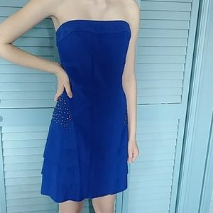Dresses & Skirts - Love Point Blue With Side Sparkle Strapless Dress